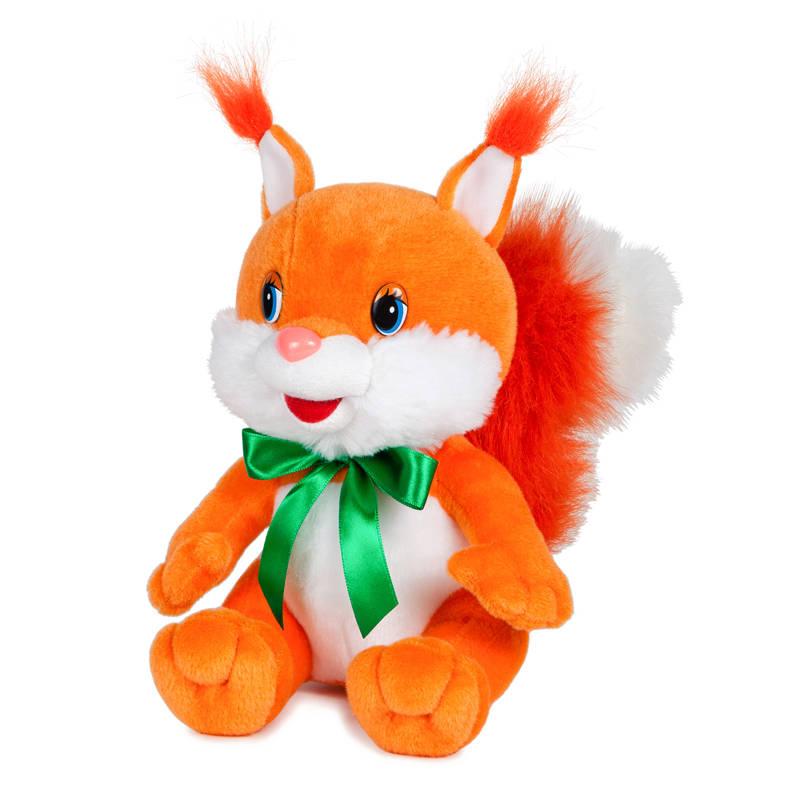 Мягкая игрушка озвученная  Белка Задорная с бантиком, 20 см. - Говорящие игрушки, артикул: 165881
