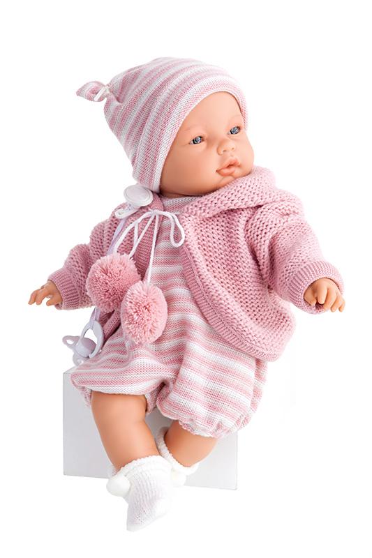 Купить Кукла Бимбо в розовом, плачущая, 37 см, Antonio Juans Munecas