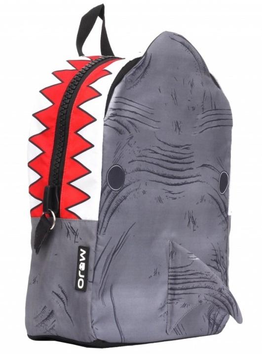 Рюкзак  Shark 3D, цвет серый, мульти - Школьные рюкзаки, артикул: 169329