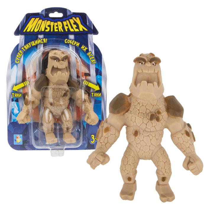 Купить Тянущаяся фигурка из серии Monster Flex Человек-скала, блистер, 15 см, 1TOY