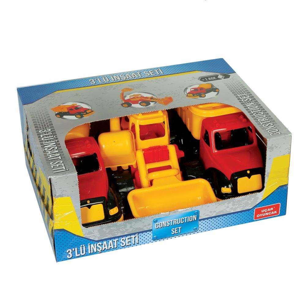Набор из 3-х строительных машин в коробке фото