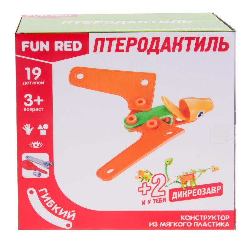 Купить Конструктор гибкий - Птеродактиль, 19 деталей, Fun Red