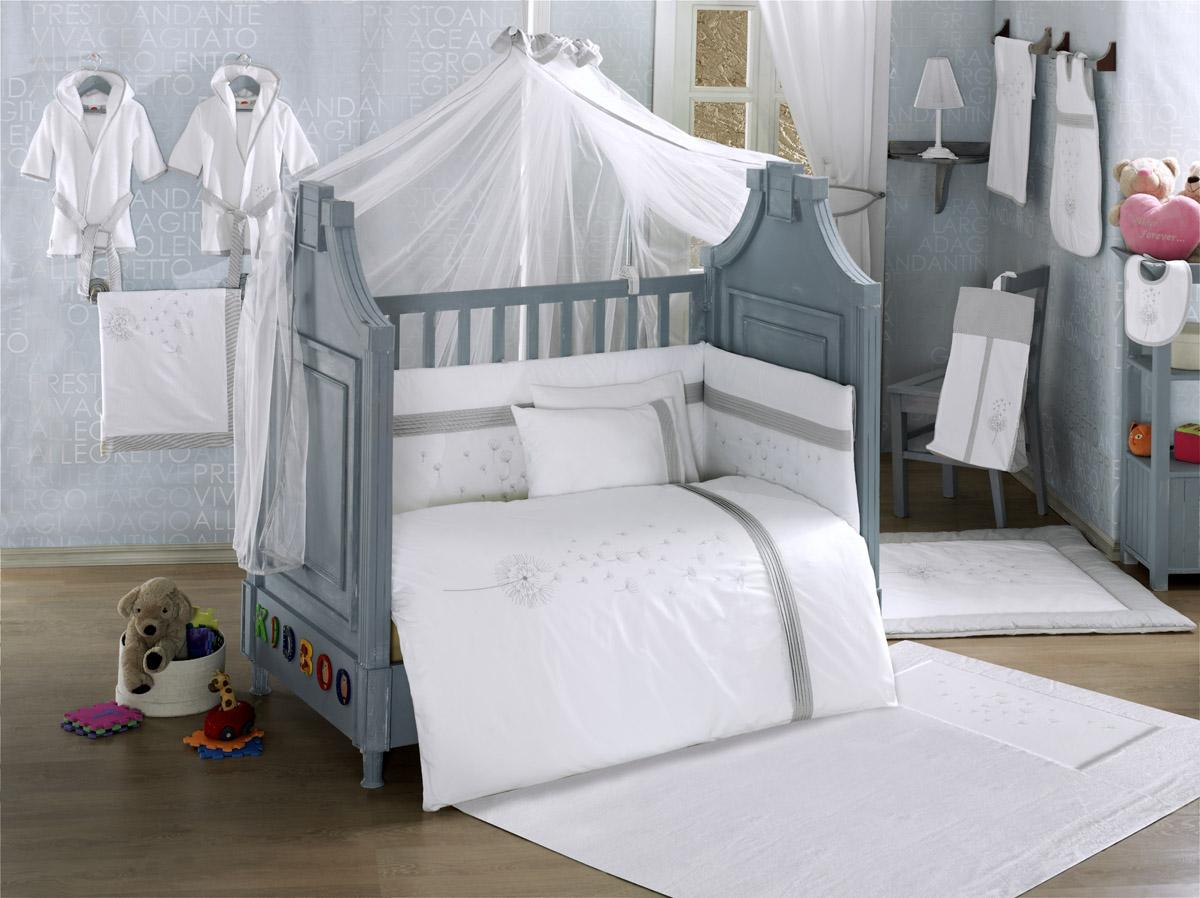 Балдахин серии Blossom Linen 150 х 450 см, WhiteДетское постельное белье<br>Балдахин серии Blossom Linen 150 х 450 см, White<br>