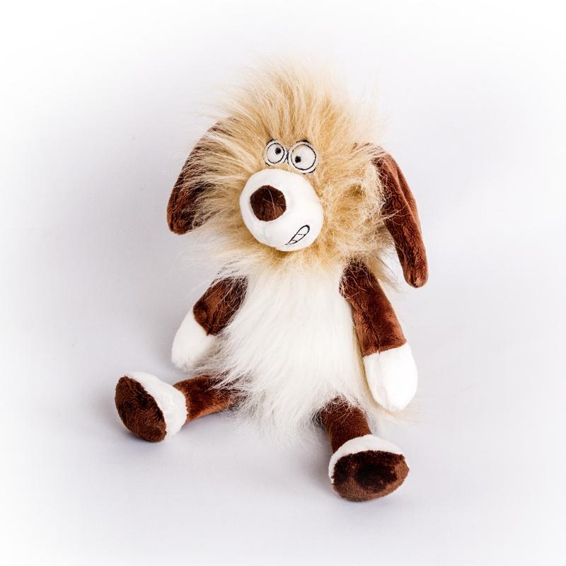 Купить Мягкая игрушка Собака Пушистик, 21 см., Button Blue
