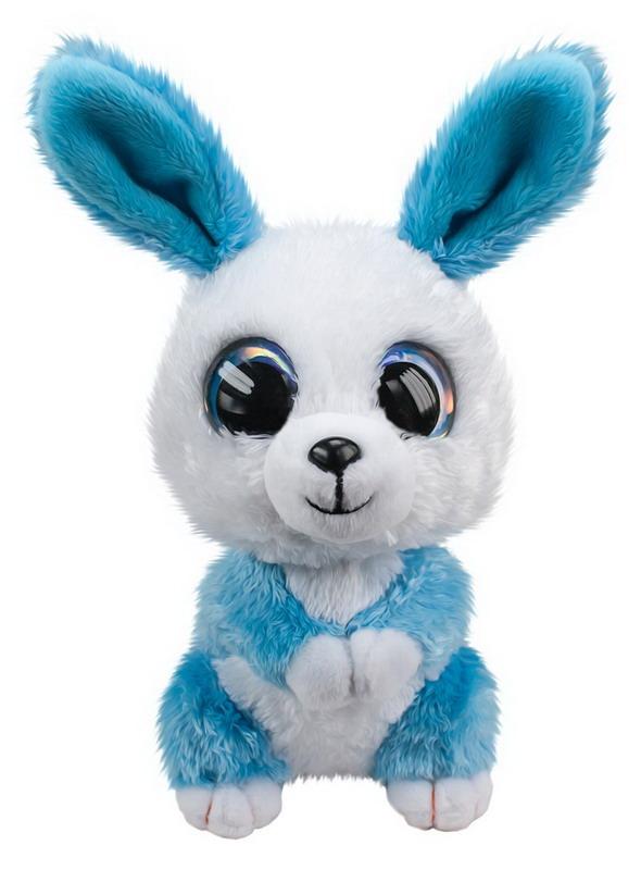 Мягкая игрушка - Кролик Ice, голубой, 15 см