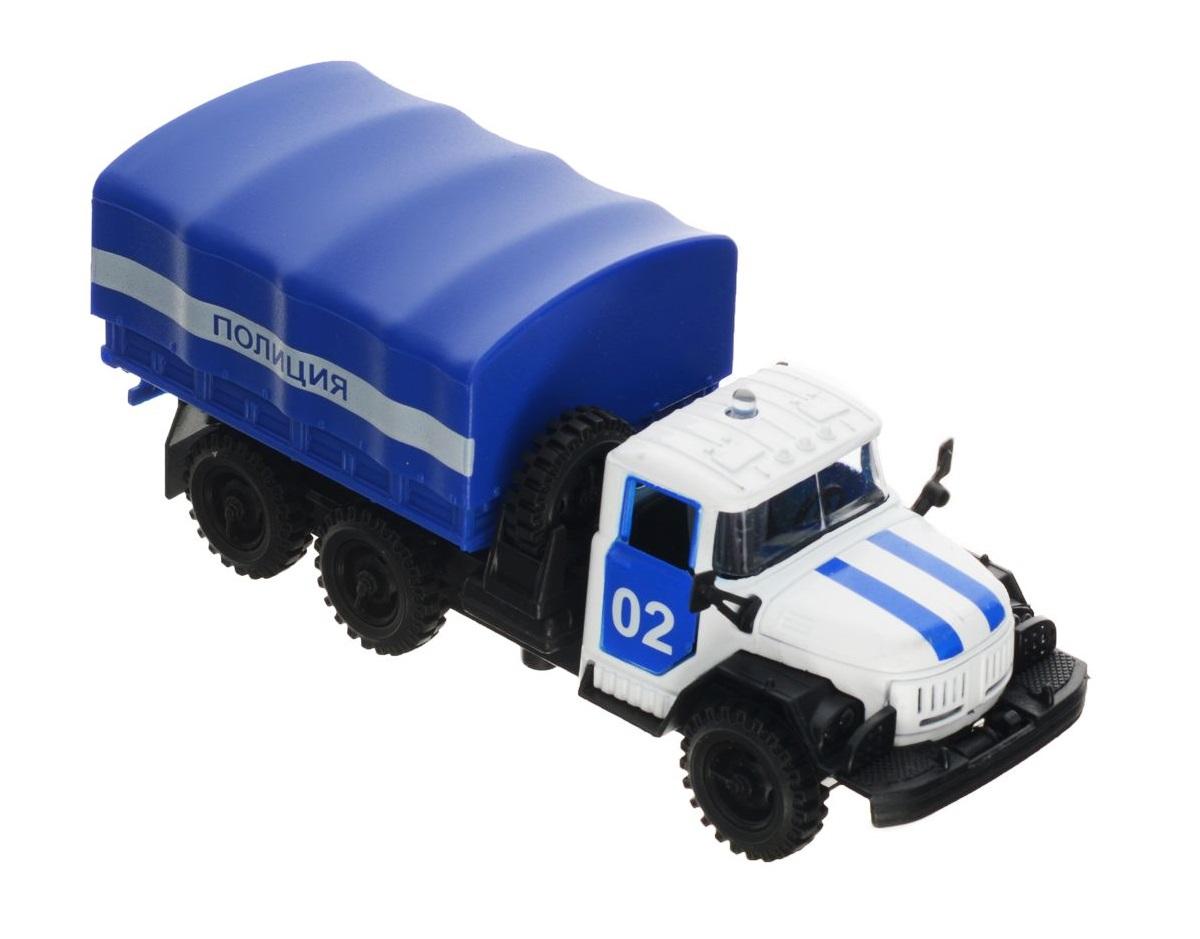 Машина металлическая инерционная - ЗИЛ 131 - Милиция/Полиция, со светом и звукомГрузовые модели<br>Машина металлическая инерционная - ЗИЛ 131 - Милиция/Полиция, со светом и звуком<br>