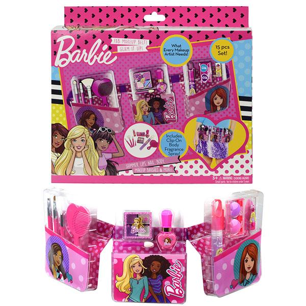 Игровой набор детской декоративной косметики с поясом визажиста – BarbieЮная модница, салон красоты<br>Игровой набор детской декоративной косметики с поясом визажиста – Barbie<br>