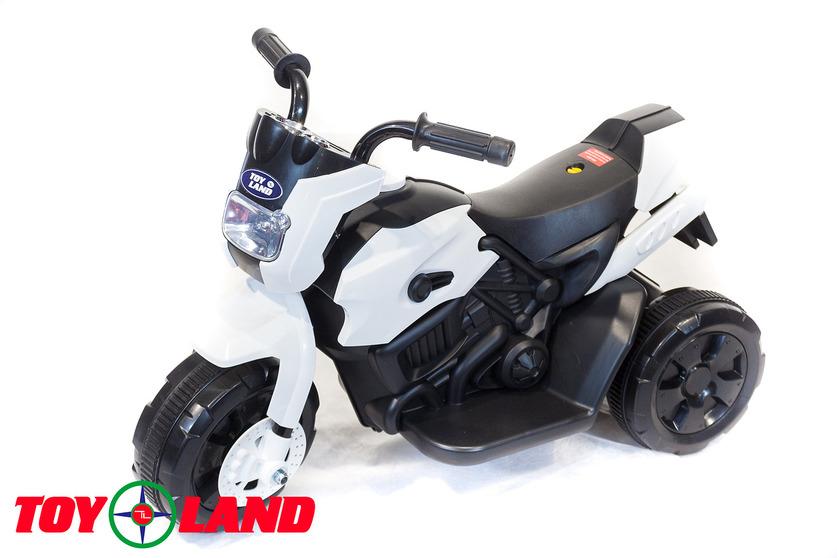 Электромотоцикл Toyland белого цветаМотоциклы детские на аккумуляторе<br>Электромотоцикл Toyland белого цвета<br>