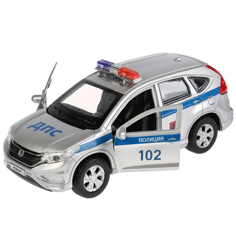 Купить Машина инерционная металлическая - Honda CR-V - Полиция, 12 см, открываются двери, Технопарк