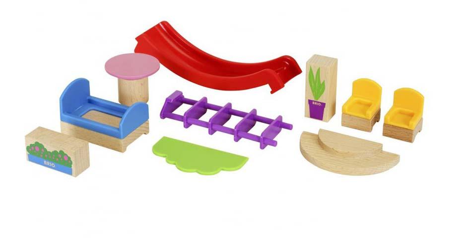 Игровой набор мебели и аксессуаров для виллы 10 деталей.