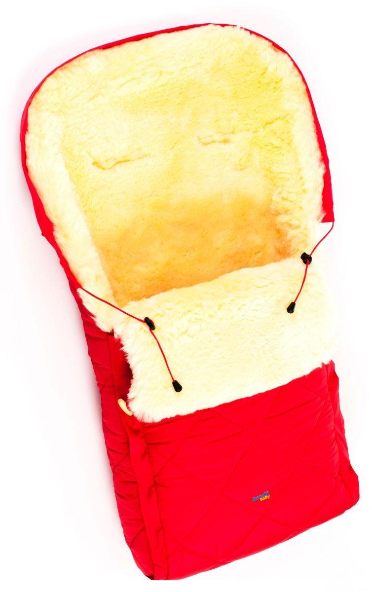Детский меховой конверт из натуральной овчинки Ramili Baby Classic Red, красный