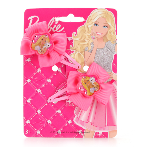 Набор из 2 заколок для волос «Барби»Юная модница, салон красоты<br>Набор из 2 заколок для волос «Барби»<br>