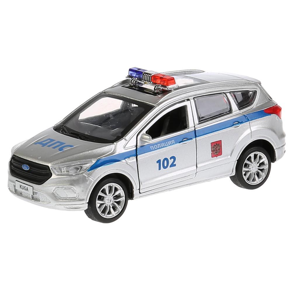 Купить Машина металлическая Ford Kuga Полиция 12 см., открываются двери, инерционная, Технопарк