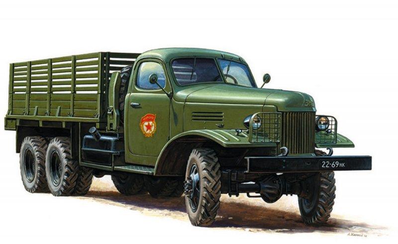 Модель для склеивания - Грузовик ЗиС-151Модели автомобилей для склеивания<br>Модель для склеивания - Грузовик ЗиС-151<br>