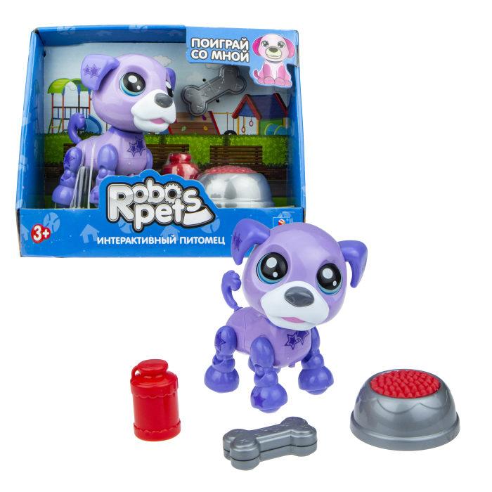 Интерактивная игрушка со звуковыми эффектами - Озорной щенок фиолетовый фото