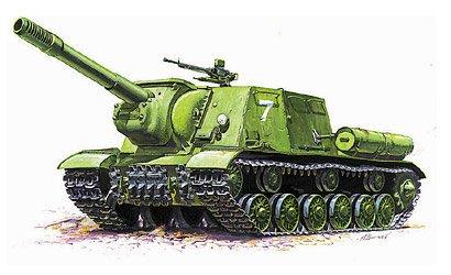 Подарочный набор - Модель для склеивания - Самоходка ИСУ-152Модели танков для склеивания<br>Подарочный набор - Модель для склеивания - Самоходка ИСУ-152<br>