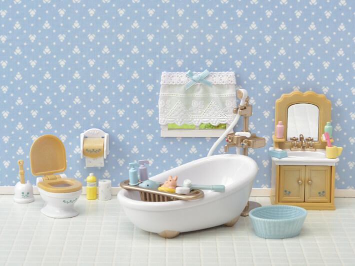 Купить Игровой набор из серии Sylvanian Families - Ванная комната и туалет, Epoch