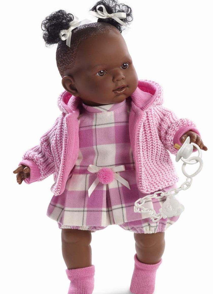 Кукла Николь в клетчатом платьице, 42 см.Испанские куклы Llorens Juan, S.L.<br>Кукла Николь в клетчатом платьице, 42 см.<br>