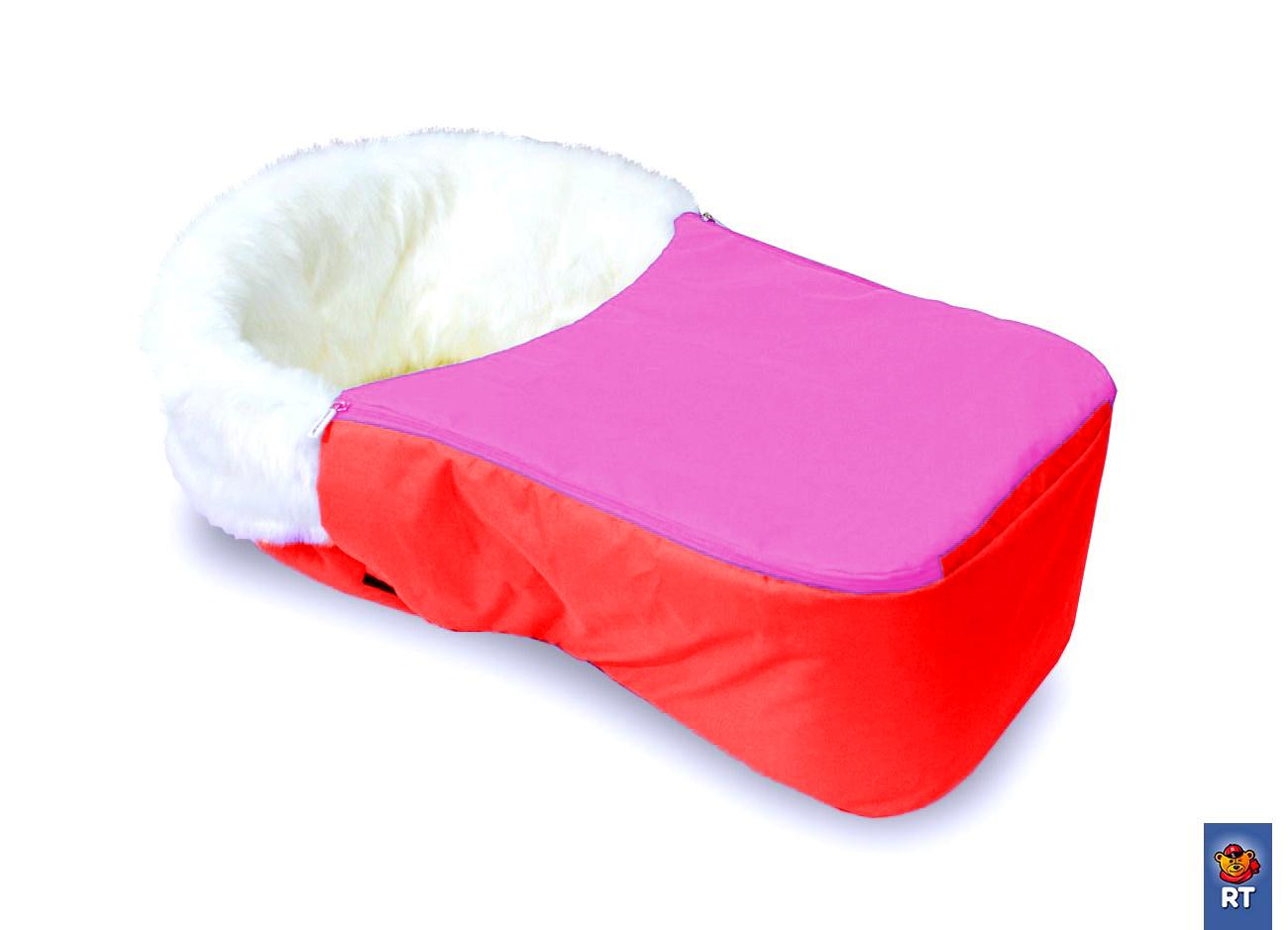 Матрац для санок Snow Baby Dream меховой с раздельной попоной на молнии, цвет – розовыйМатрасики, муфты, чехлы в санки<br>Матрац для санок Snow Baby Dream меховой с раздельной попоной на молнии, цвет – розовый<br>