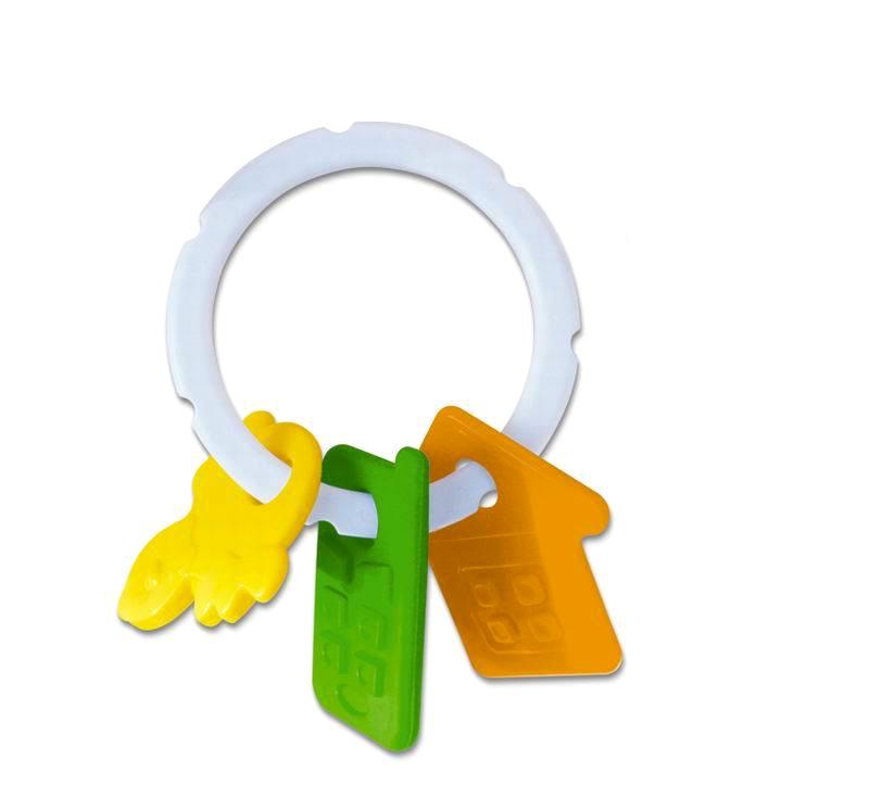 Прорезыватель с погремушкой «Колечко»Детские погремушки и подвесные игрушки на кроватку<br>Прорезыватель с погремушкой «Колечко»<br>