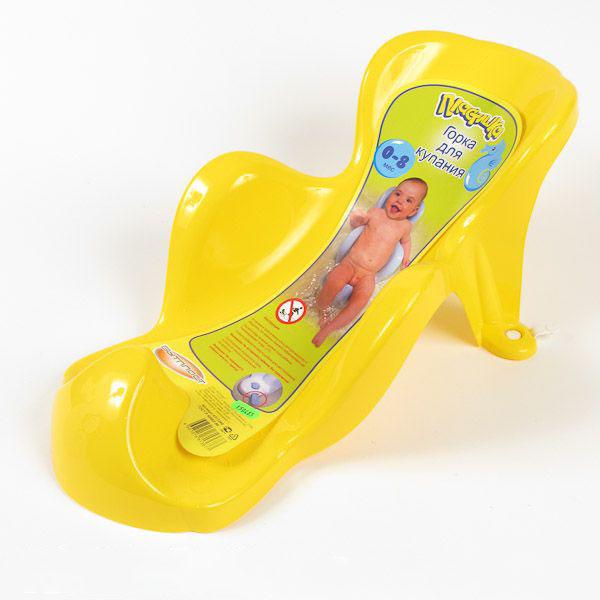 Горка для купания детей, цвет желтыйВанночки для купания<br>Горка для купания детей, цвет желтый<br>