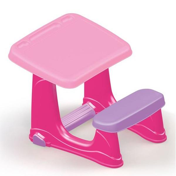 Парта со скамейкой розового цветаПарты<br>Парта со скамейкой розового цвета<br>