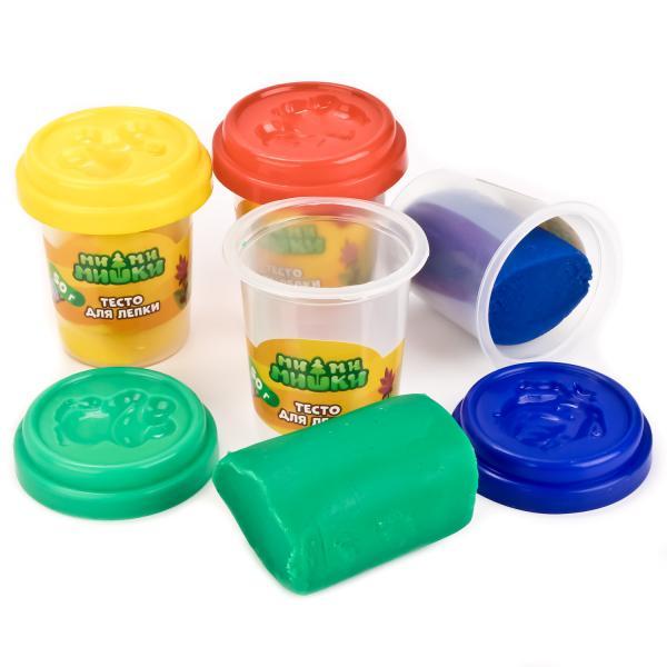 Тесто для лепки – Мимимишки, 4 цветаНаборы для лепки<br>Тесто для лепки – Мимимишки, 4 цвета<br>