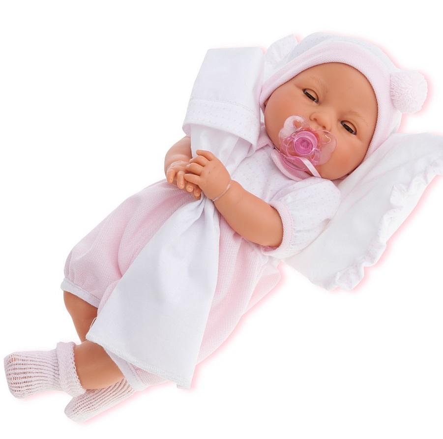 Кукла Габи в розовом с открывающимися глазами, 37 см, плачетКуклы Антонио Хуан (Antonio Juan Munecas)<br>Кукла Габи в розовом с открывающимися глазами, 37 см, плачет<br>