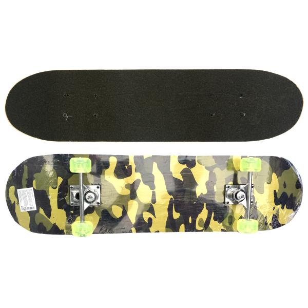 Скейтборд Military размер 79 х 20 см, полиуретановые колесаДетские скейтборды<br>Скейтборд Military размер 79 х 20 см, полиуретановые колеса<br>