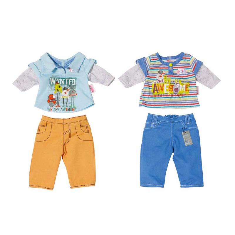 Стильная одежда для куклы мальчика из серии Baby born, 2 вида, с вешалкойОдежда Baby Born <br>Стильная одежда для куклы мальчика из серии Baby born, 2 вида, с вешалкой<br>