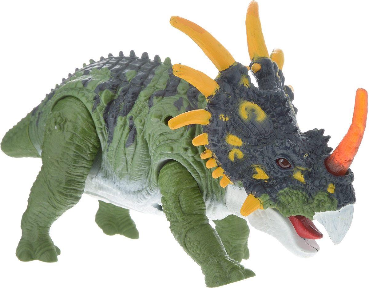 Подвижная фигура Стиракозавр, звук, светЖизнь динозавров (Prehistoric)<br>Подвижная фигура Стиракозавр, звук, свет<br>