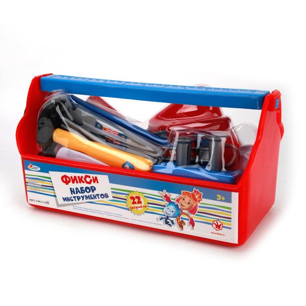 Набор строительных инструментов Фиксики, в ящикеДетские мастерские, инструменты<br>Набор строительных инструментов Фиксики, в ящике<br>