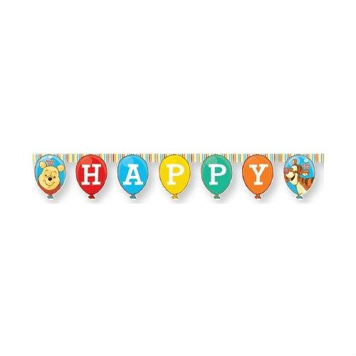 Гирлянда Винни и Хрюня Happy BirthdayВинни Пух<br>Гирлянда Винни и Хрюня Happy Birthday<br>