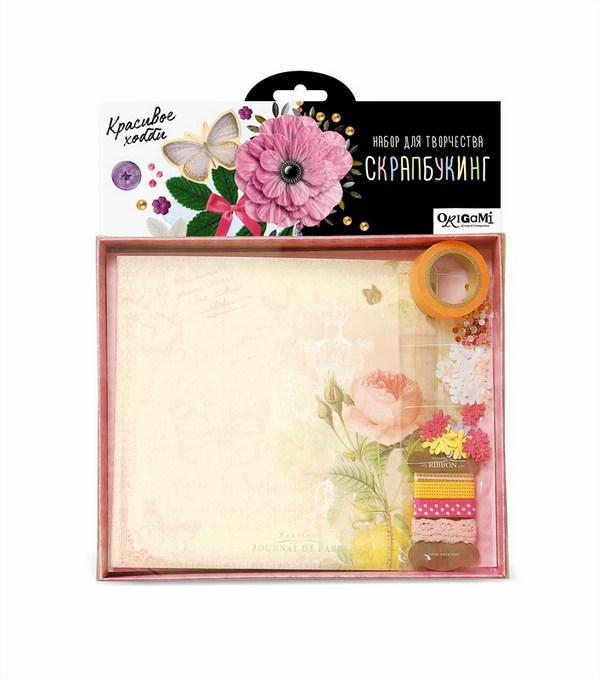 Набор для творчества - Скрапбукинг-альбом ЦветыРазные поделки из бумаги<br>Набор для творчества - Скрапбукинг-альбом Цветы<br>