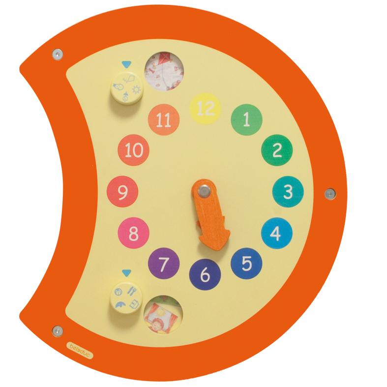 Настенный игровой лемент Гусеница - ЧасыРазвиващие центры<br>Настенный игровой лемент Гусеница - Часы<br>