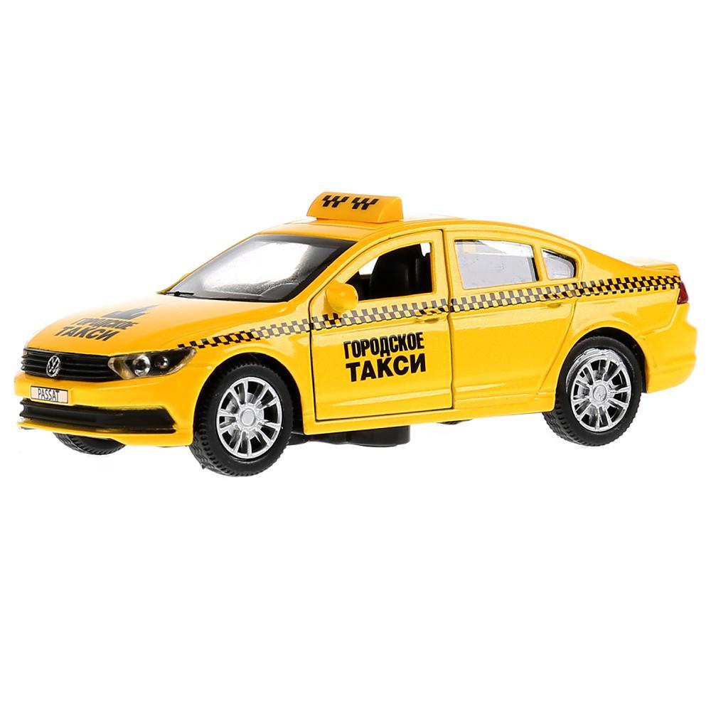 Купить Металлическая инерционная машина Такси VW Passat, 12 см, открываются двери, Технопарк