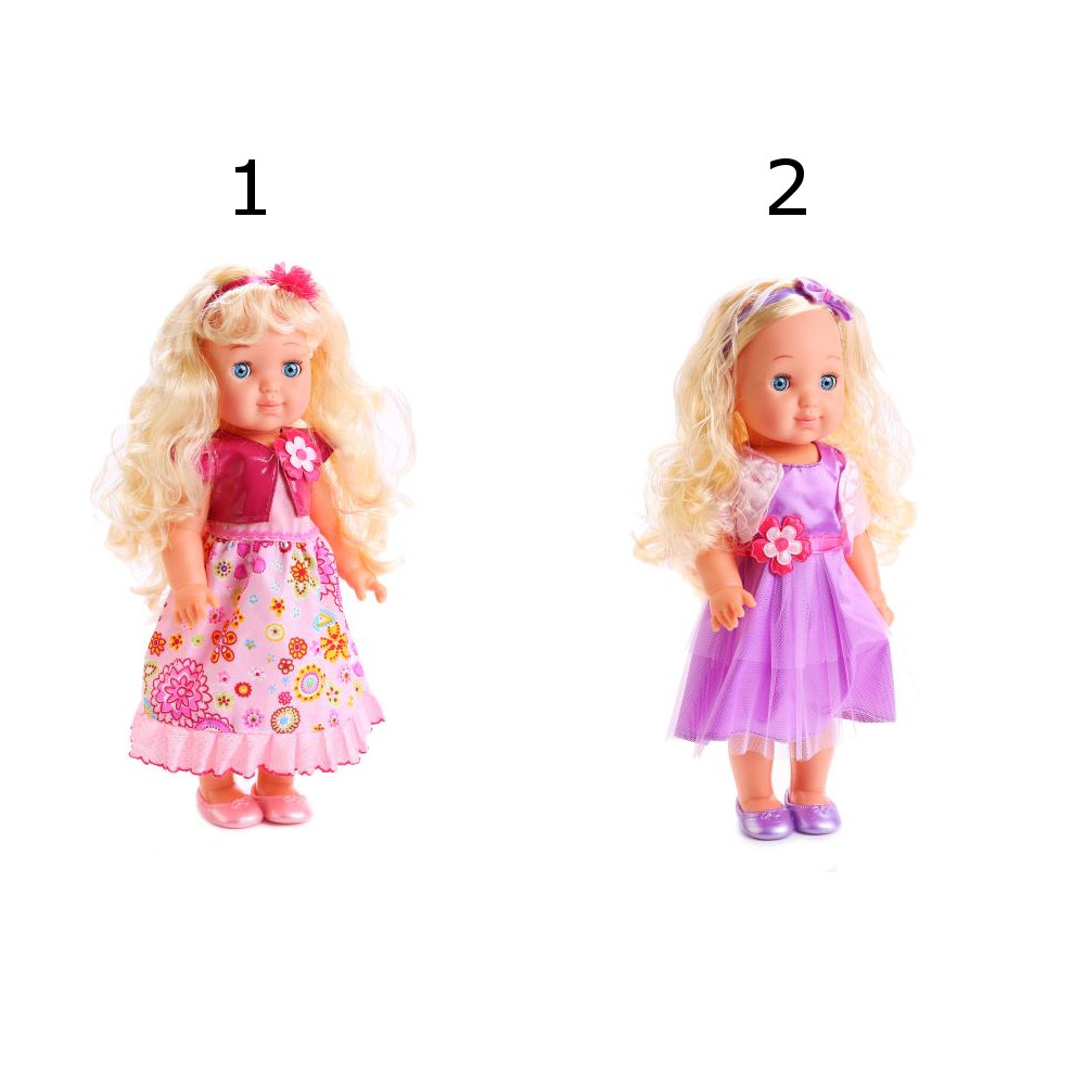 Купить Интерактивная кукла Полина 35 см., озвученная, русифицированная, закрывает глазки, 2 вида, Карапуз