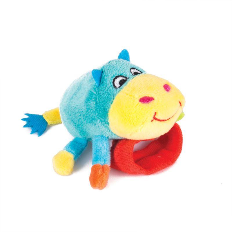 Купить Игрушка-погремушка на ручку Бегемот Бубба, Happy Snail