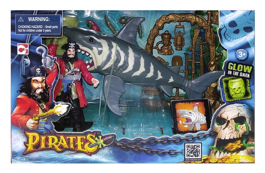 Игровой набор: Пираты. Нападение акулыЗамки, рыцари, крепости, пираты<br>Игровой набор: Пираты. Нападение акулы<br>