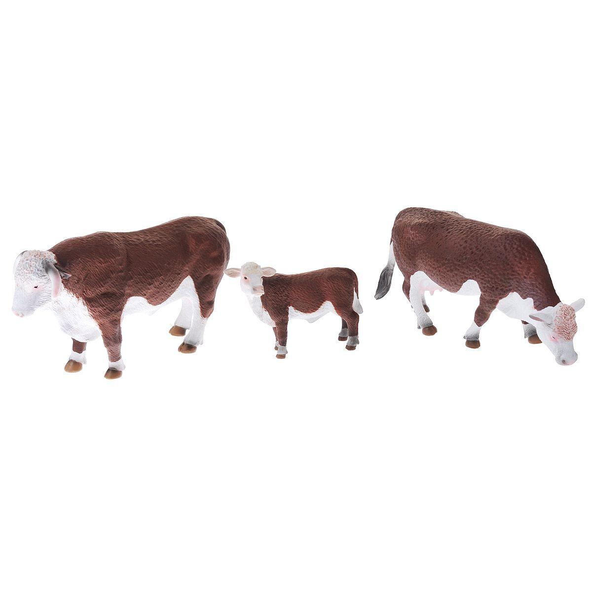 Купить Набор Animal Planet – Герефордские коровы, 3 штуки, Mojo