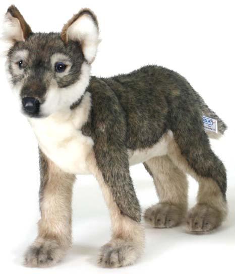 Щенок волка, стоящий, 30 смДикие животные<br>Щенок волка, стоящий, 30 см<br>