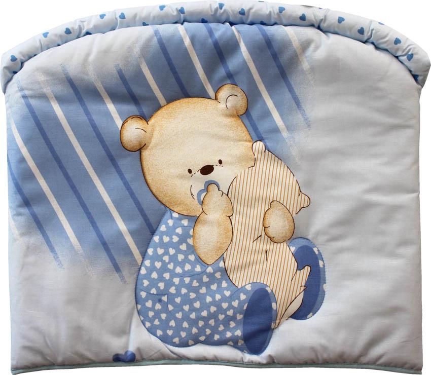 Бампер - Мишутка, голубойБампер в кроватку<br>Бампер - Мишутка, голубой<br>