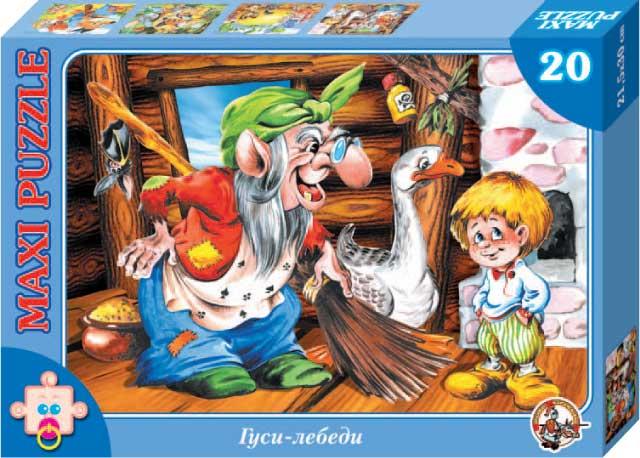 картинка Пазл макси «Гуси лебеди», 20 элементов от магазина Bebikam.ru