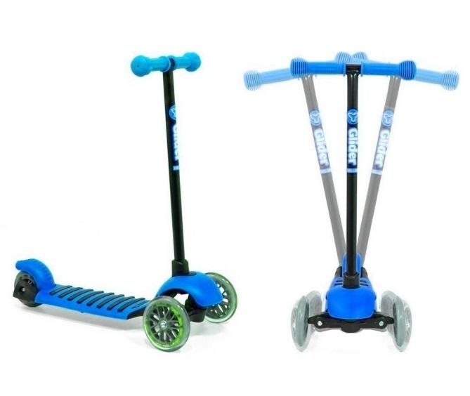 Самокат 3-х колесный Glider mini, blueТрехколесные самокаты<br>Самокат 3-х колесный Glider mini, blue<br>