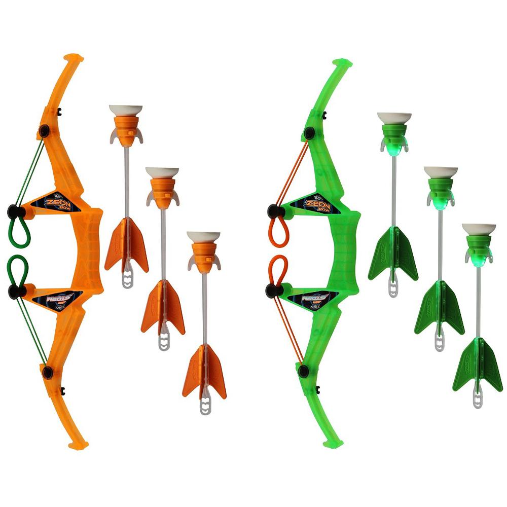 Лук средний с 3 стрелами с подсветкой - Арбалеты и Дартс, артикул: 136824