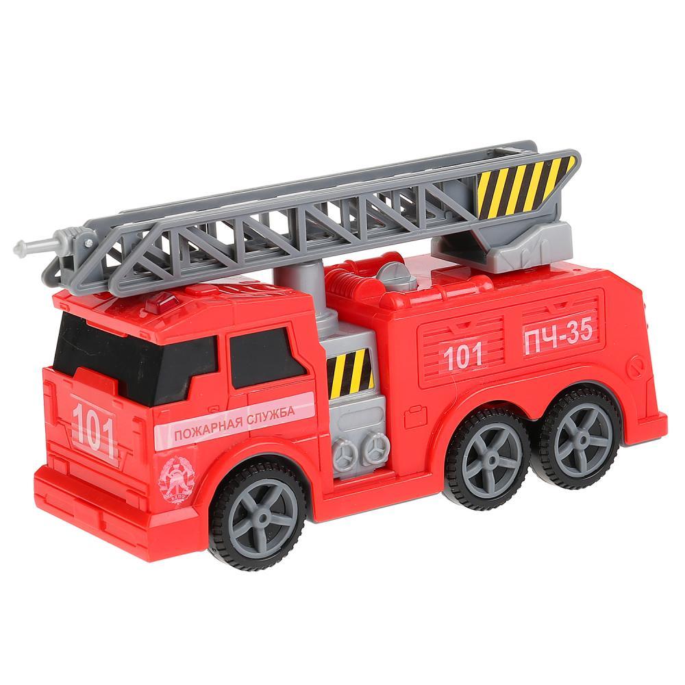 Купить Пожарная машина, 17 см, свет, звук, подвижные элементы, Технопарк