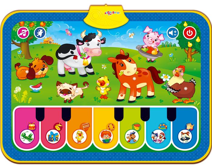 Коврик музыкальный - Веселая ферма, 70 х 50 смИнтерактив для малышей<br>Коврик музыкальный - Веселая ферма, 70 х 50 см<br>
