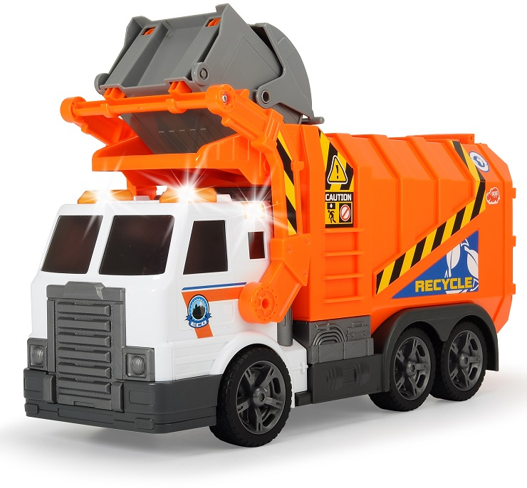 Купить Мусоровоз с контейнером, 41 см., свет и звук, Dickie Toys