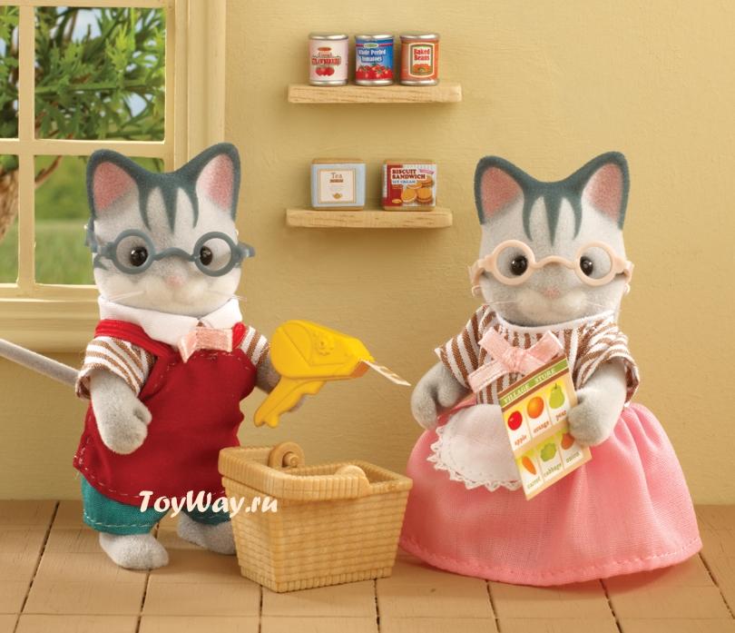 Набор  Владельцы супермаркета  - Игрушки Sylvanian Families, артикул: 97629