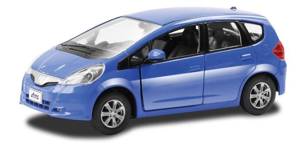 Металлическая инерционная машина - Honda Jazz, 1:32, синяя фото